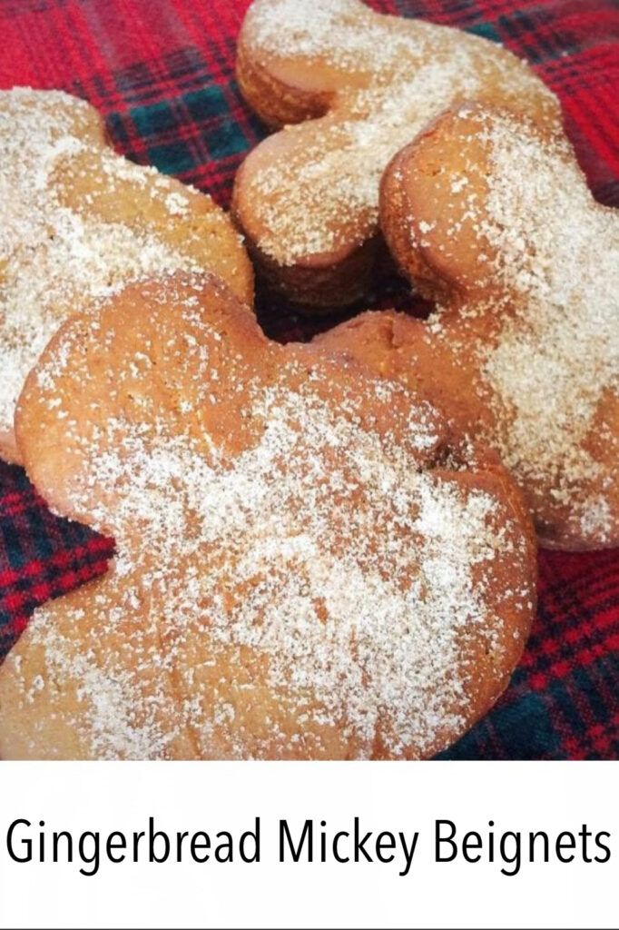 Gingerbread Mickey Beignets