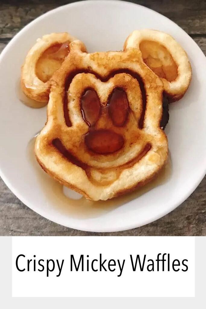 Crispy Mickey Waffles