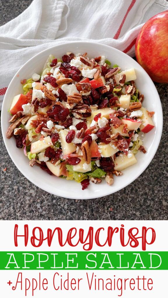 Pinterest image for Honeycrisp Harvest Salad.