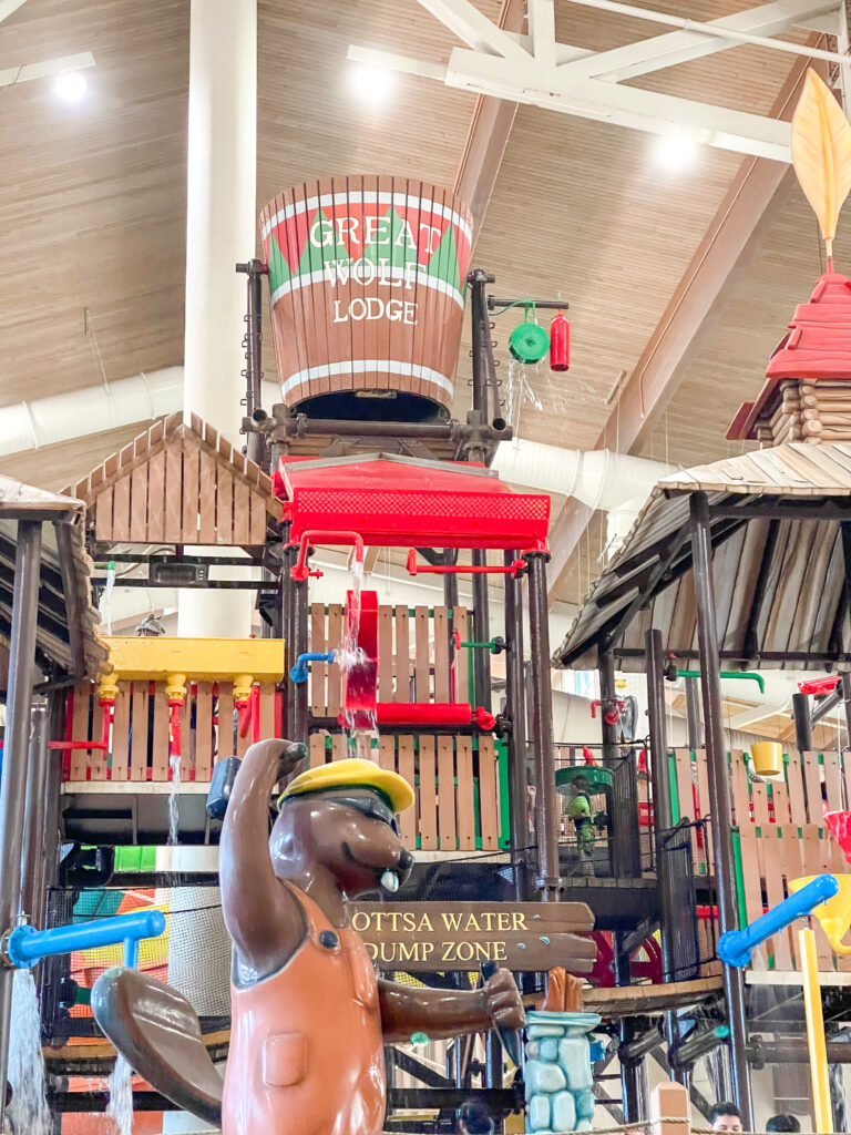 Water playground at Great wolf Lodge Texas.