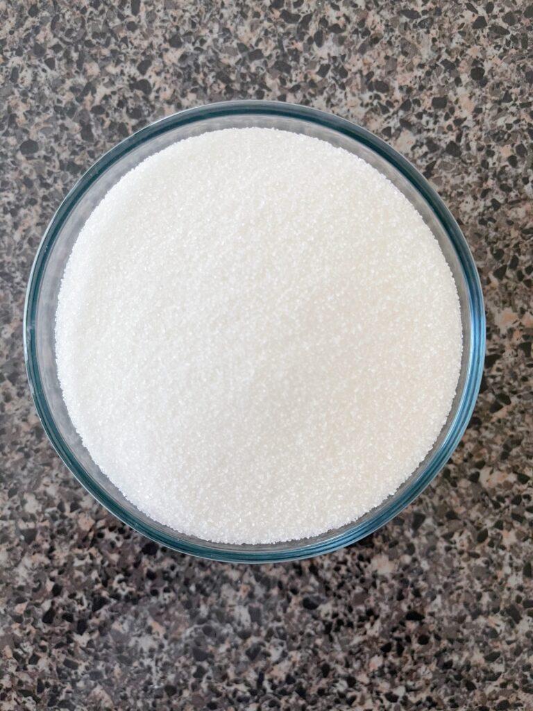 A bowl of sugar.