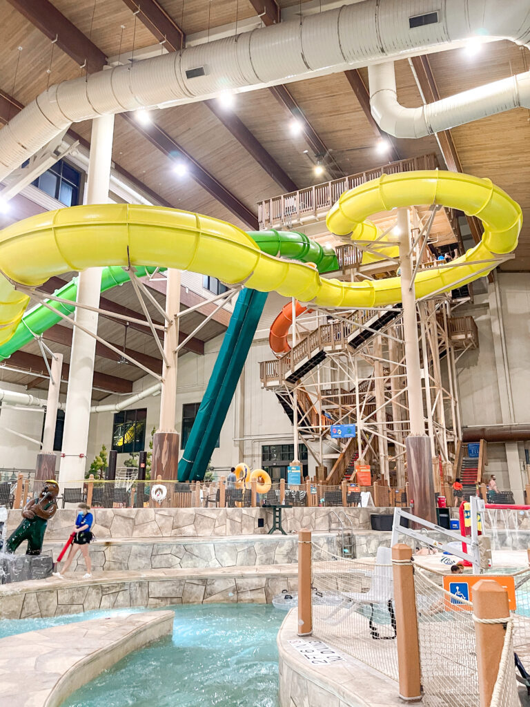 Great Wolf Lodge water slides.