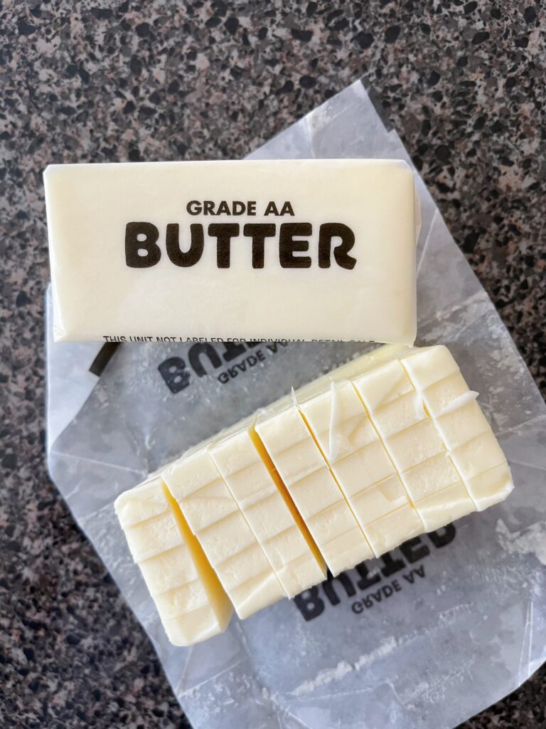Two sticks of butter.
