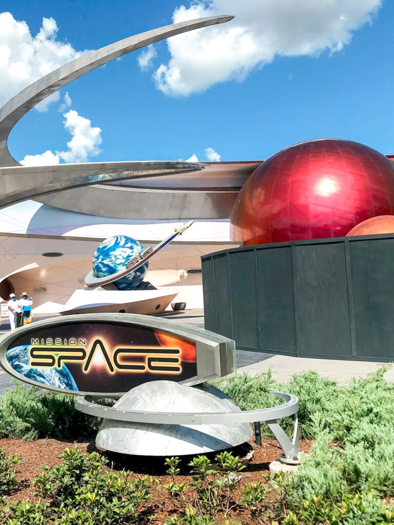 Mission Space entrance at Epcot.
