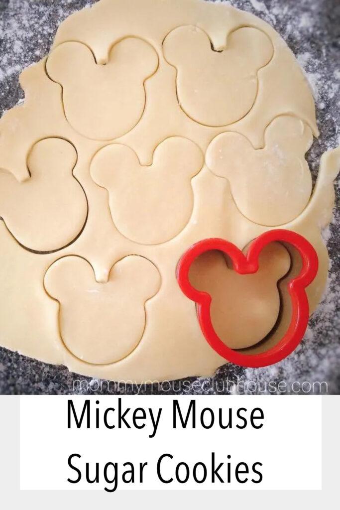 Mickey Sugar Cookies