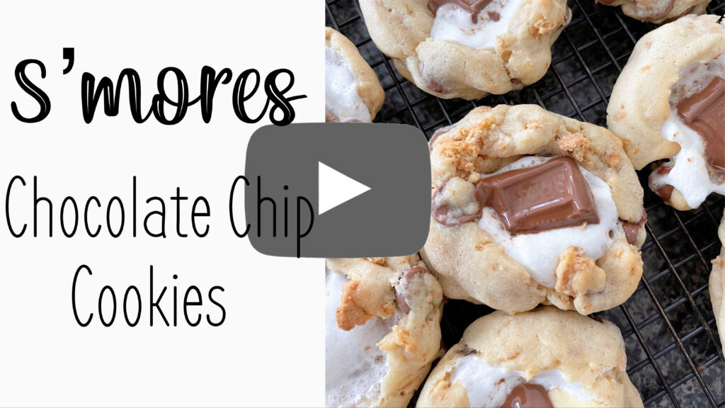 YouTube thumbnail image for S'mores cookies.