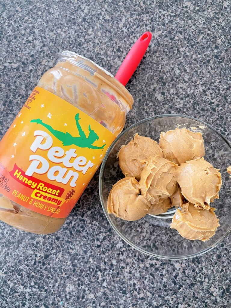 A jar of honey roasted peanut butter.