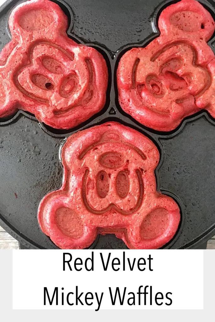 Red Velvet Mickey Waffles