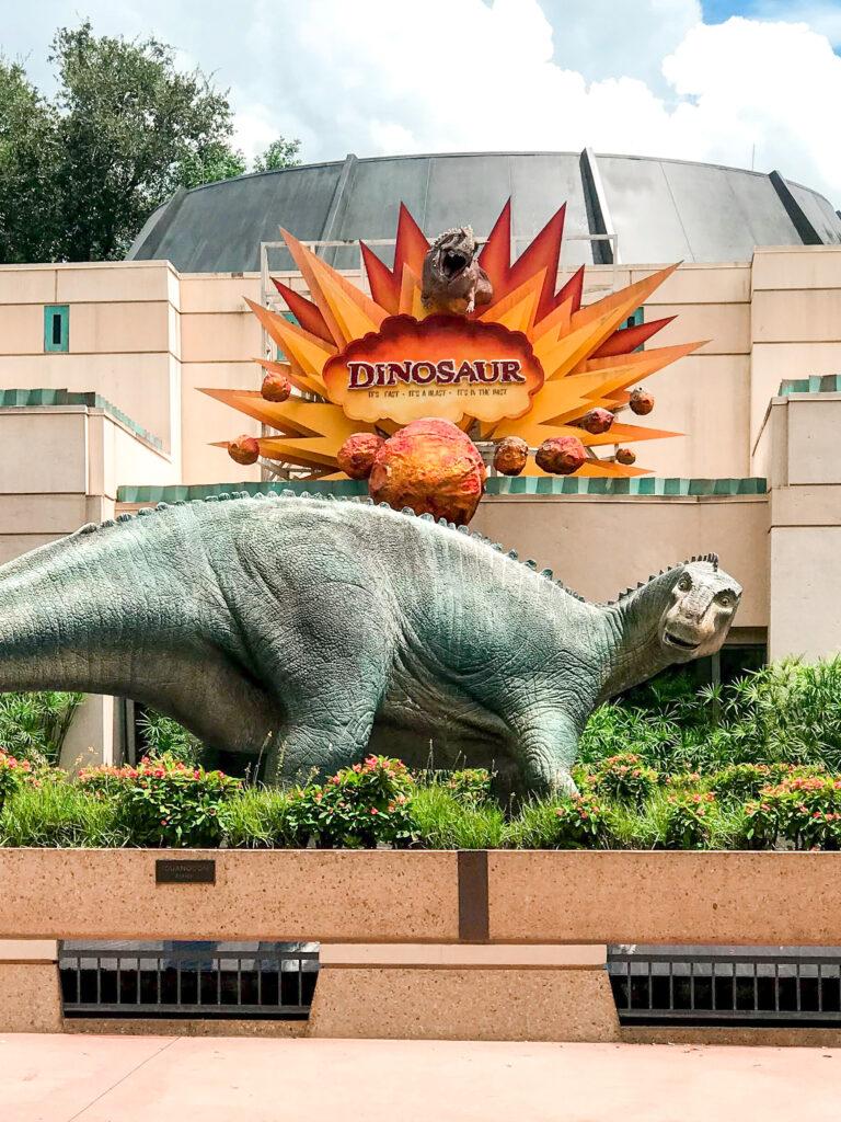Entrance to DINOSAUR attraction at Disney's Animal Kingdom.