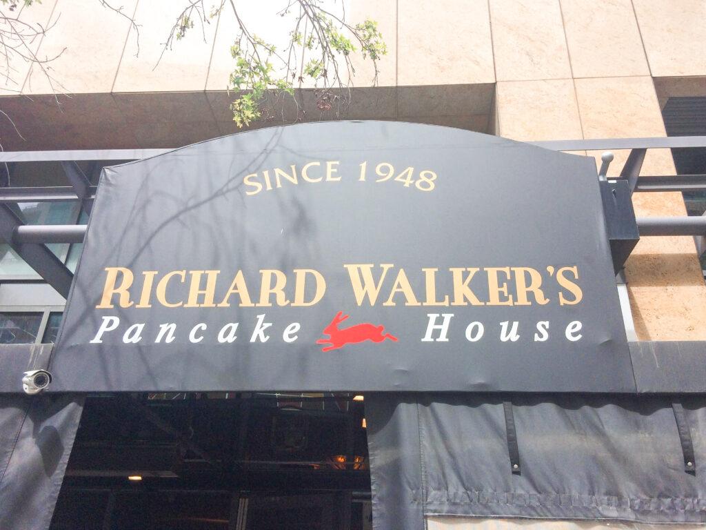 Entrance to Richard Walker's Pancake House in San Diego California.