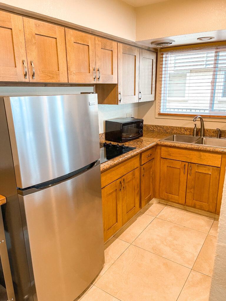 Kitchen in Island Palms suite in San Diego.