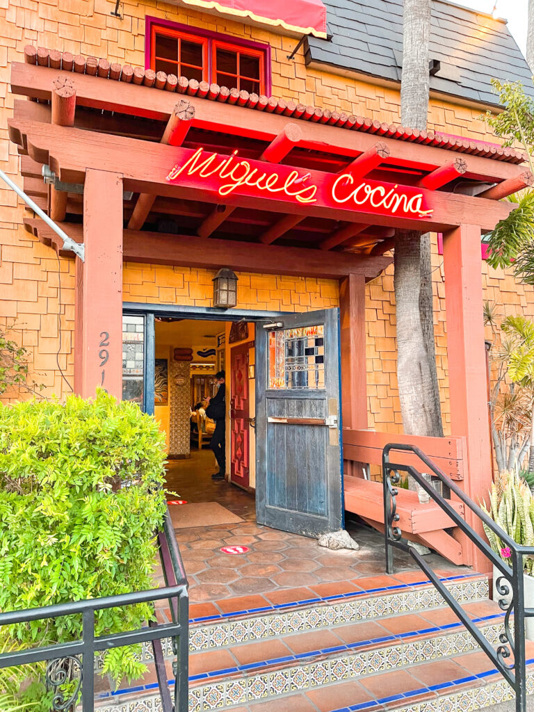 Entrance to Miguel's Cocina in Point Loma San Diego, California.