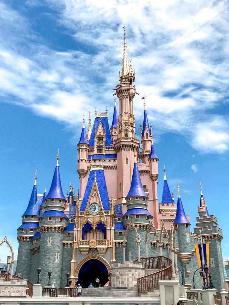 Cinderella's Castle at Disney World in July
