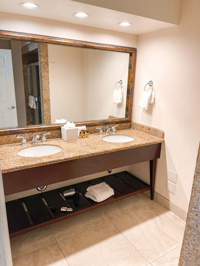 Bathroom double vanity.