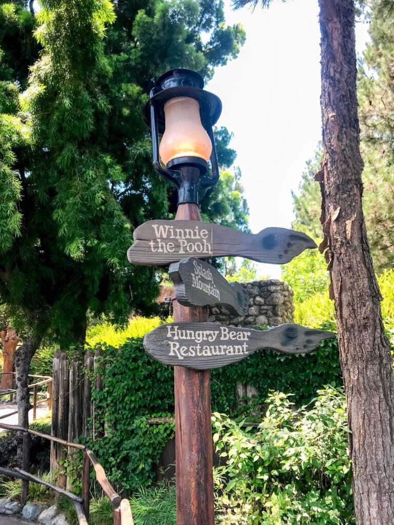 Light post at Disneyland.
