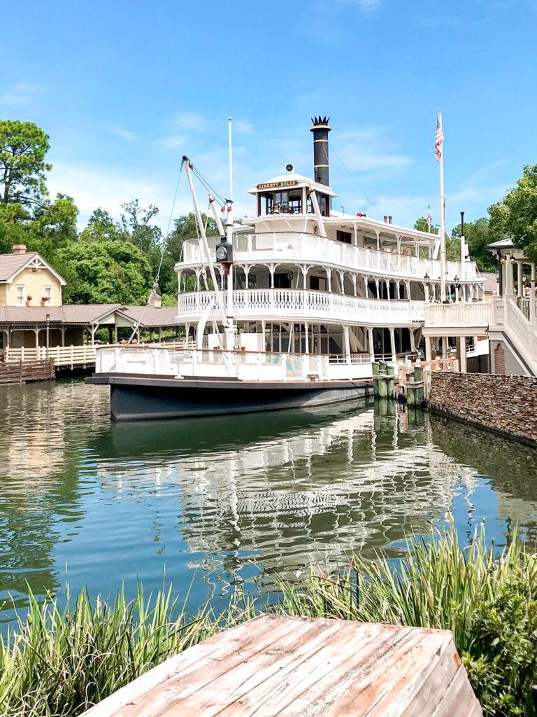 Liberty Belle river boat at Disney's Magic Kingdom.