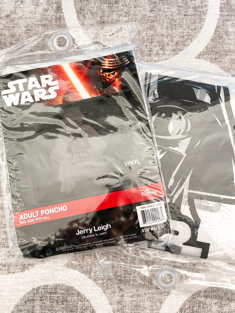 Two Darth Vader Ponchos from Amazon.