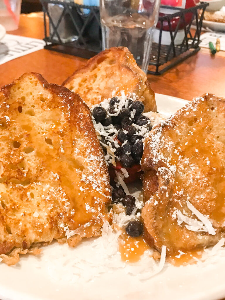 Tiki Toast from The Broken Yolk Cafe in San Diego.