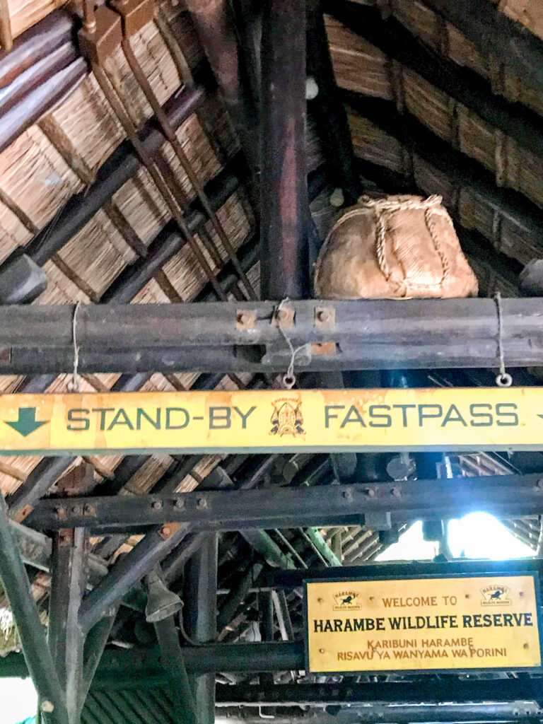 Stand-by queue for Kilimanjaro Safari at Disney's Animal Kingdom Theme Park.