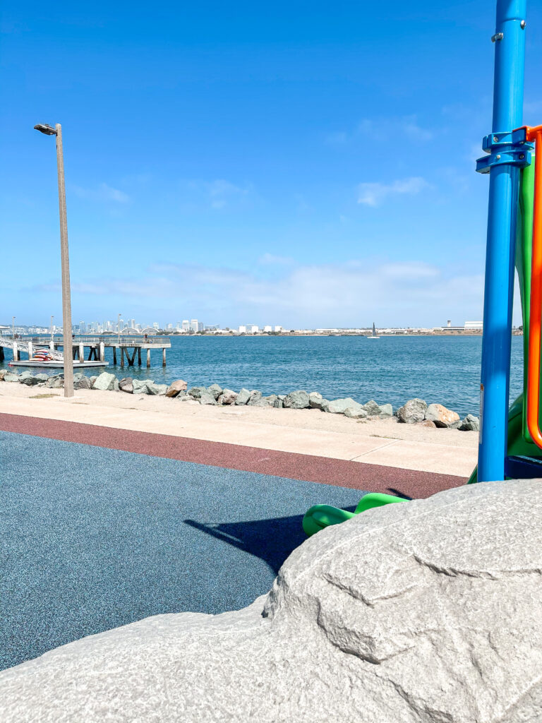 View of San Diego Bay from Shelter Island playground.
