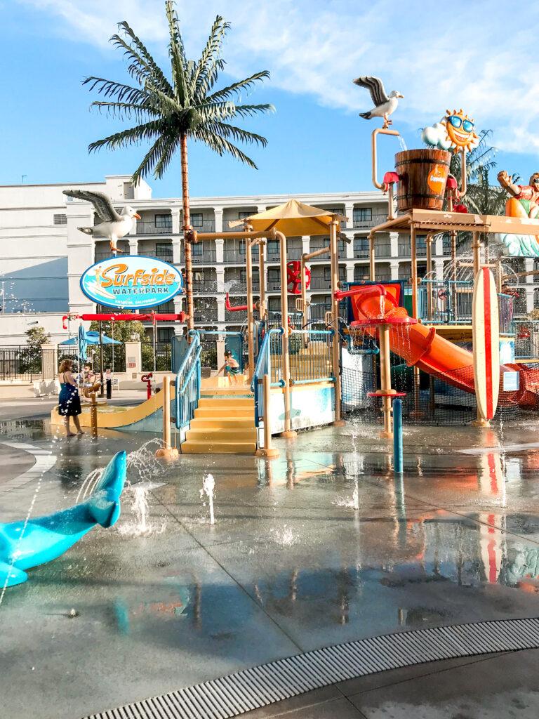 Surfside Waterpark at Courtyard Anaheim Theme Park Entrance.