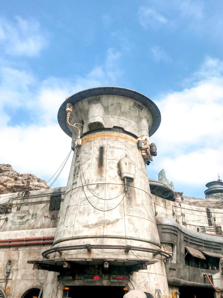 Entrance to Millennium Falcon: Smuggler's Run at Disneyland.