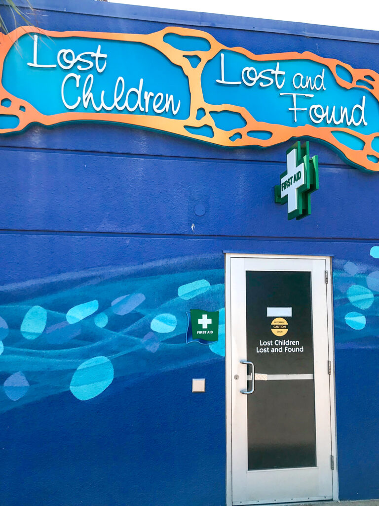 Lost Child/First Aid station at Sea World.