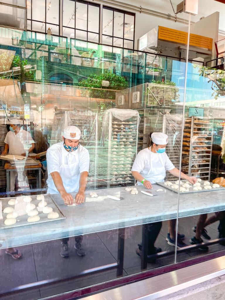 Bakers at Boudin Bakery in San Francisco.