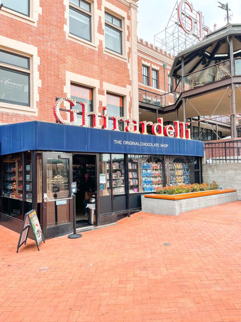 Entrance to Ghirardelli Square in San Francisco.