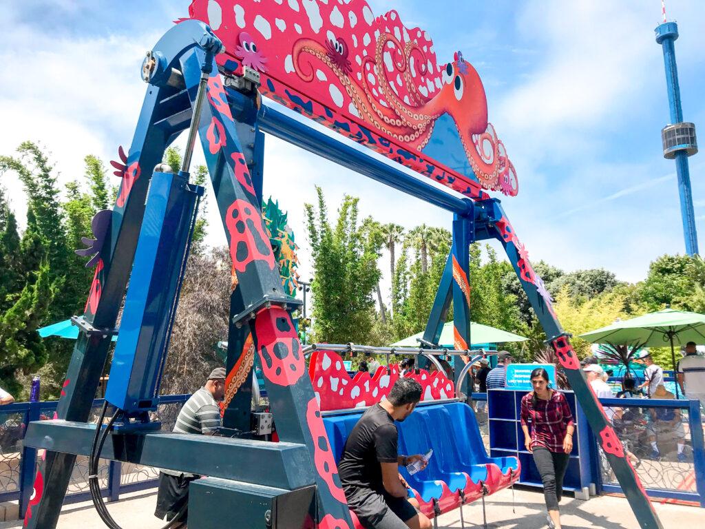 Octarock swing ride at Sea World.