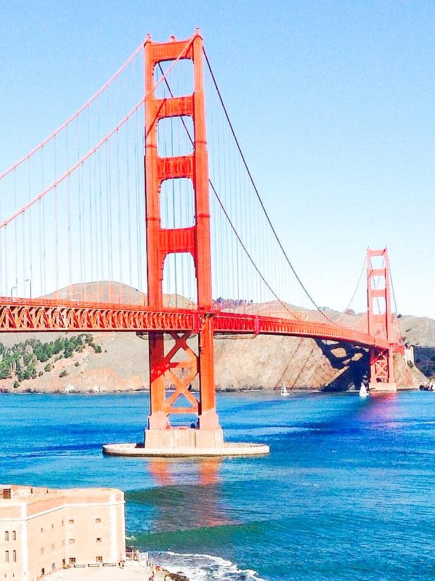 View of the Golden Gate Bridge in San Francisco.