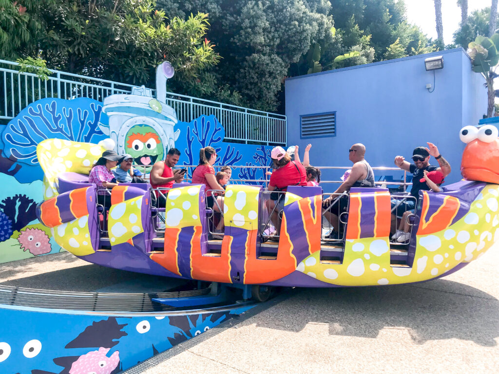 Oscar's Rocking Eel ride.