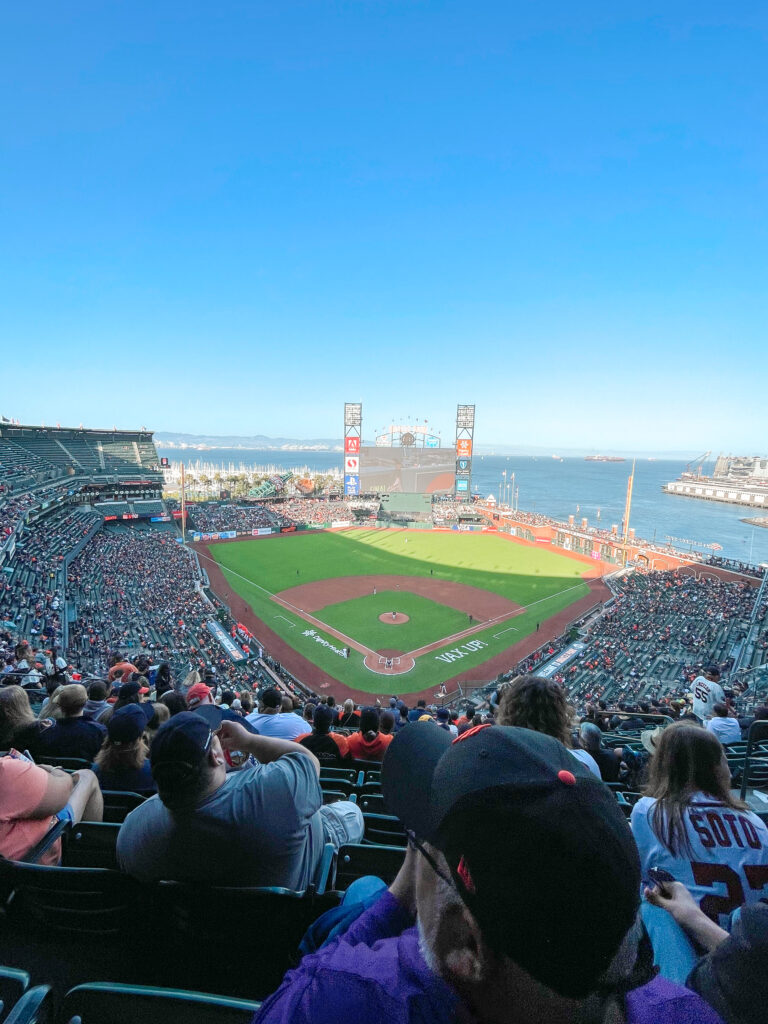 View of Oracle Park in San Francisco.