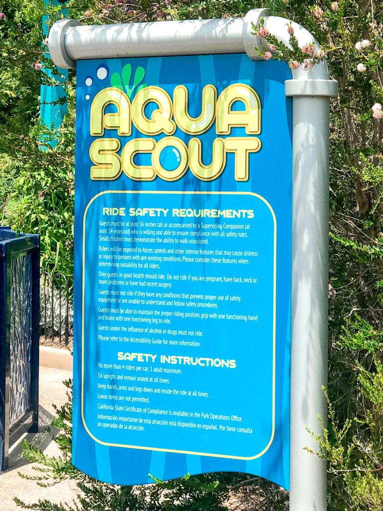 Aqua Scout ride at Sea World.