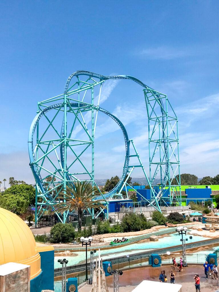 Electric Eel roller coaster at Sea World San Diego.
