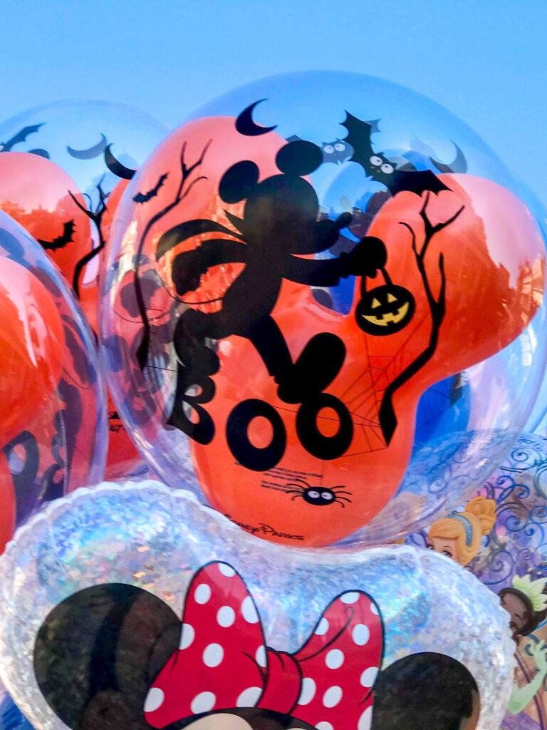 A Halloween Mickey Mouse Balloon.