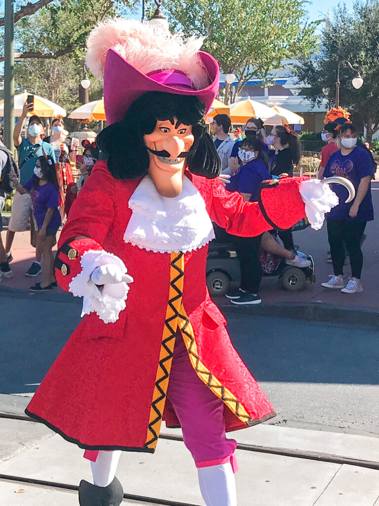 Captain Hook at Magic Kingdom.