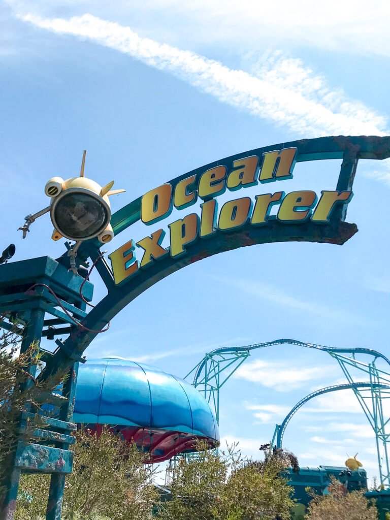 Ocean Explorer Sign at Sea World.