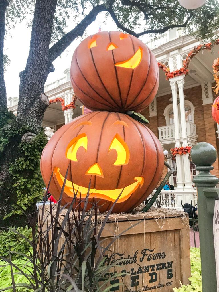 Jack-o-lanterns at Magic Kingdom.
