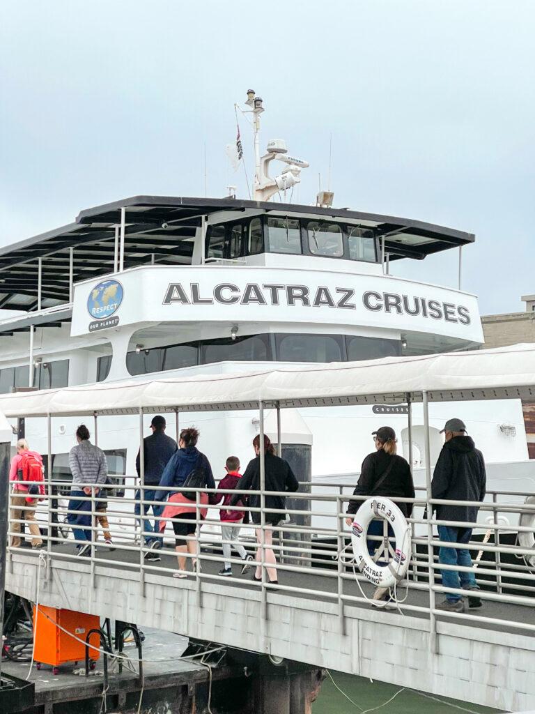 Alcatraz City Cruises ferry boat.