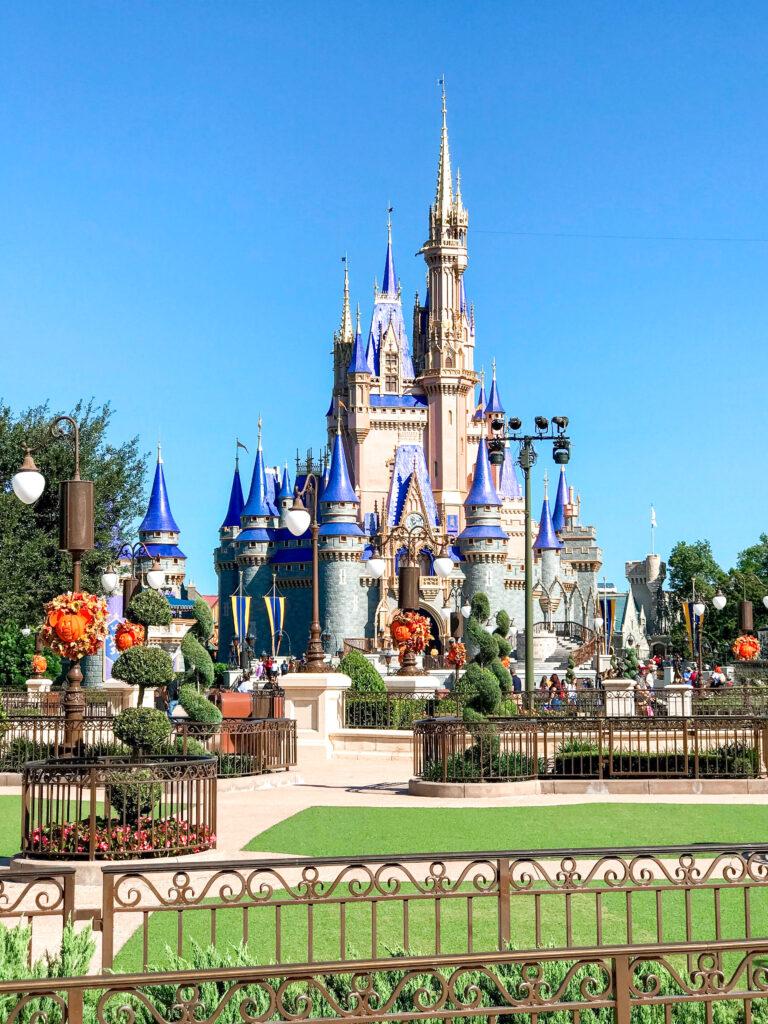 Cinderella Castle in October.
