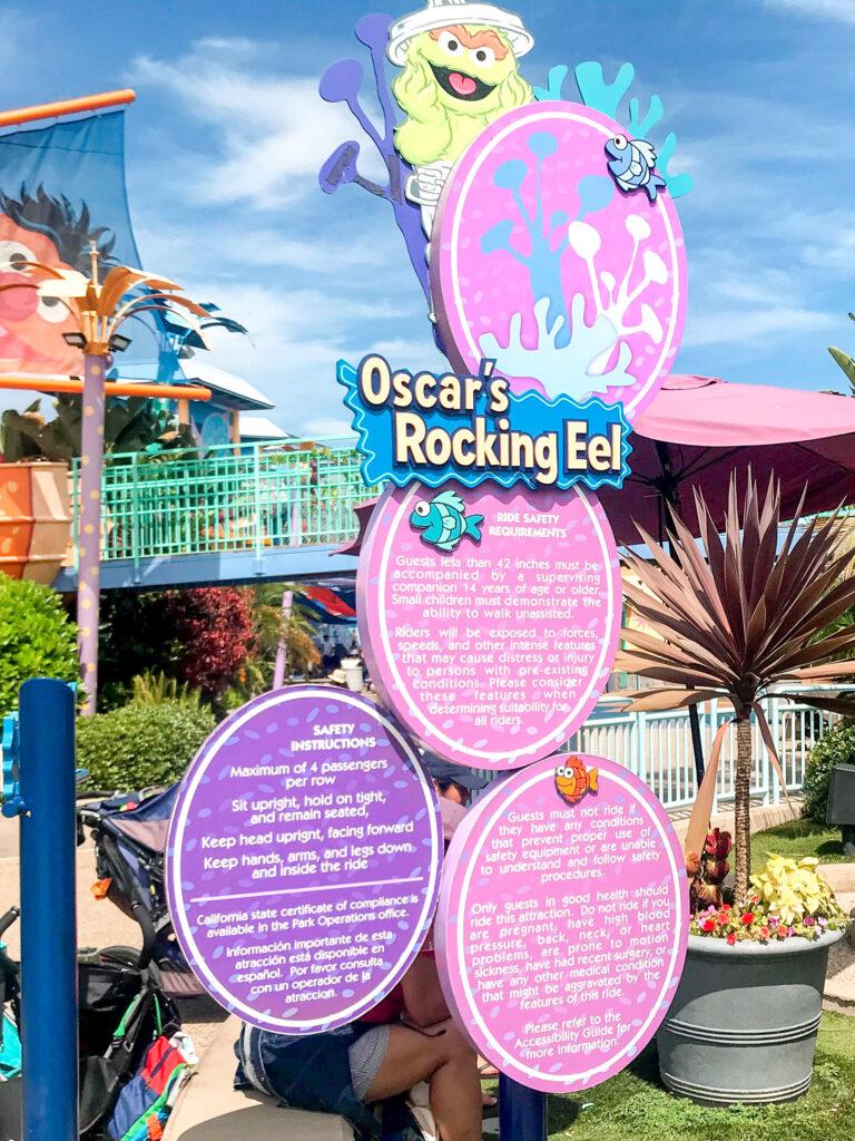 Oscar's Rocking Eel ride at Sea World San Diego.
