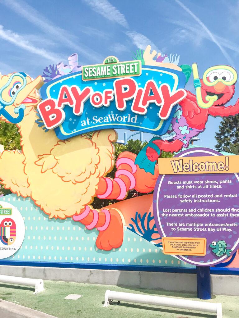 Sesame Street Bay of Play at Sea World San Diego.