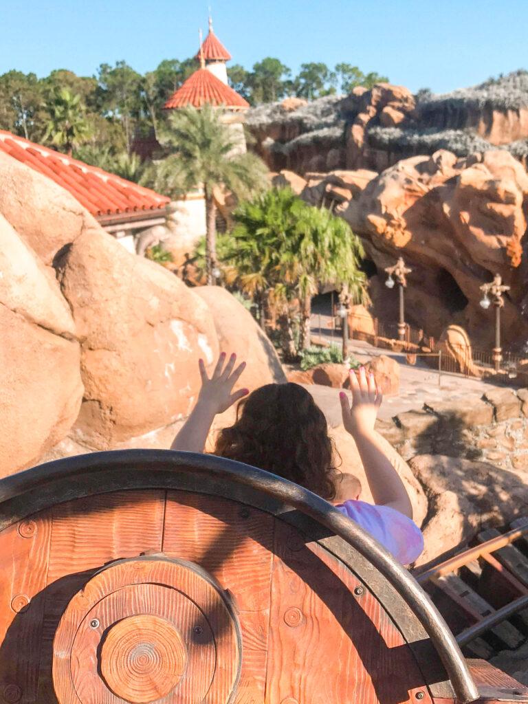 View while riding Seven Dwarfs Mine Train at Magic Kingdom.