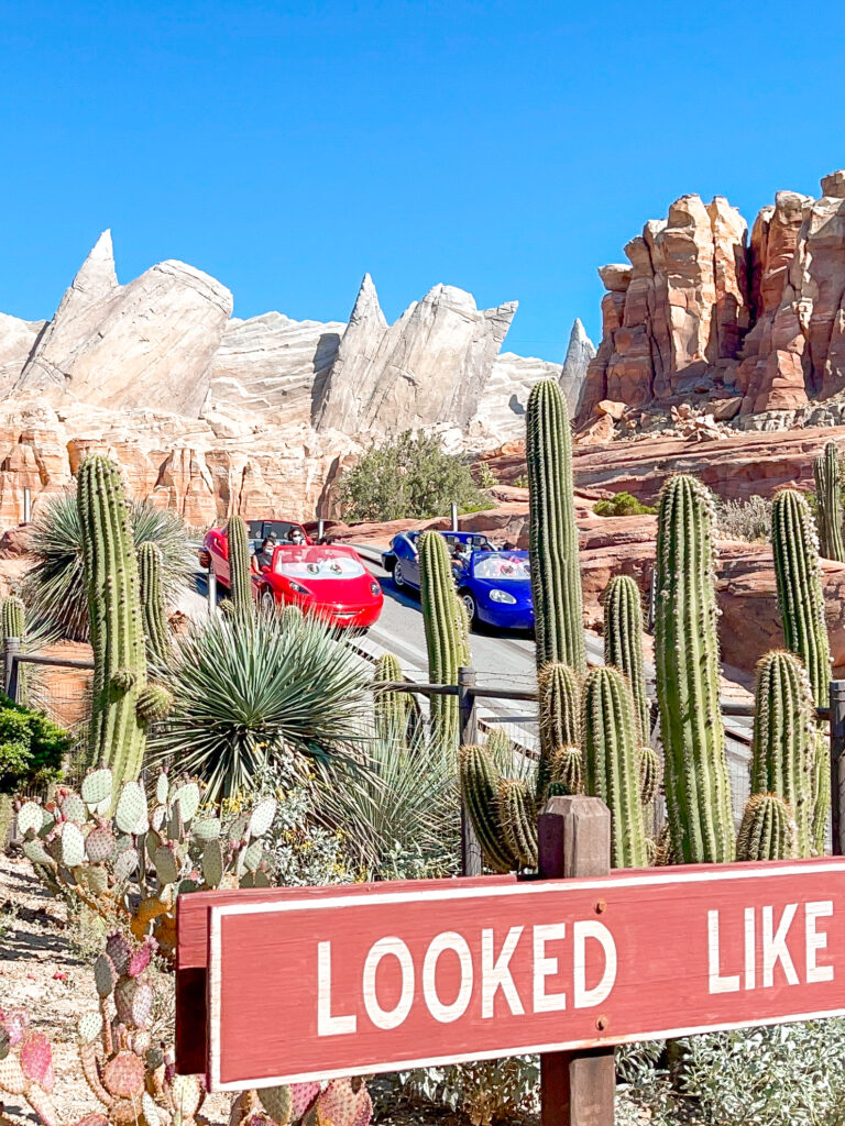 Radiator Springs Racers in Cars Land at Disneyland.