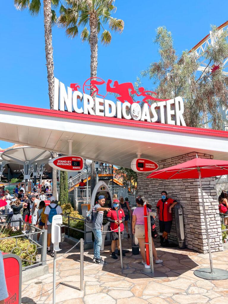 Incredicoaster at Disneyland.