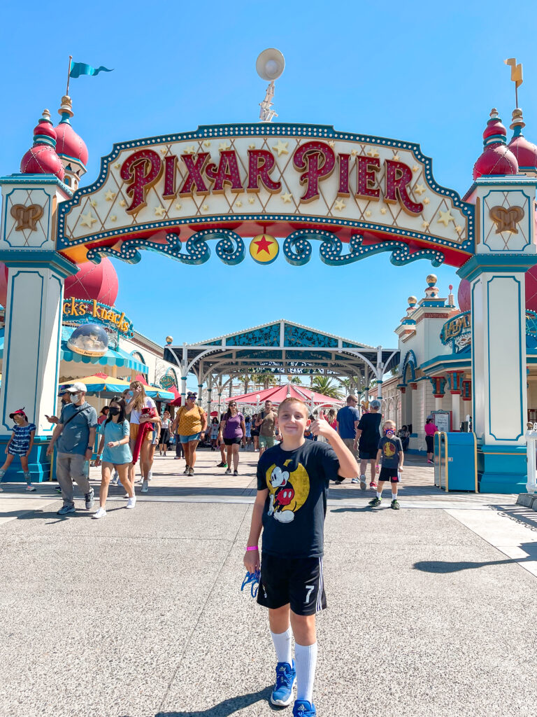 Pixar Pier entrance at Disney California Adventure.