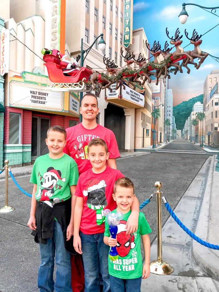 A family at Disneyland.