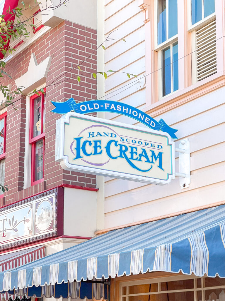 Gibson Girl Ice Cream Parlor on Main Street U.S.A. at Disneyland.
