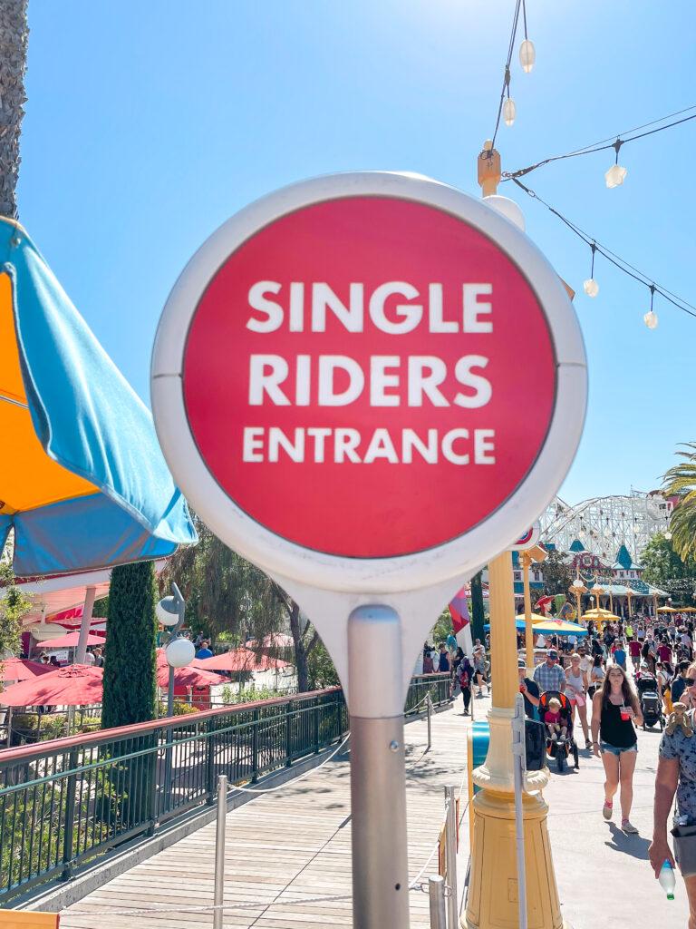 Single Rider Line for Incredicoaster.